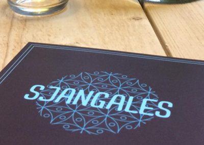 Logo en flyer Sjangales