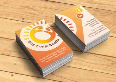 Logo en visitekaartjes Zorg voor je Kracht