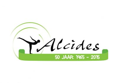 Logo en flyer Gymnastiekvereniging Alcides Baarlo