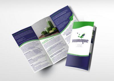 Drieluik folder Praktijk voor Schoonheid & Gezondheid