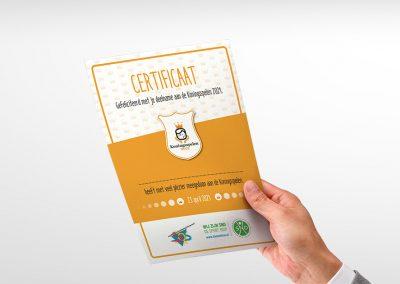 Certificaten Koningsspelen SNO Scherpenzeel